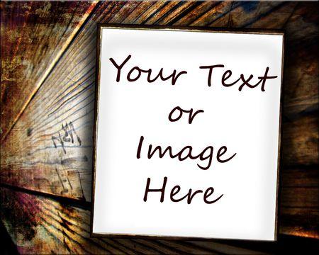 木の上の空白のホワイト ペーパー記号 写真素材