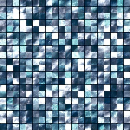 mosaic floor: Seamless Blue Tiles