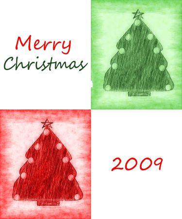 Merry Christmas 2009 Card Stock Photo - 5392230