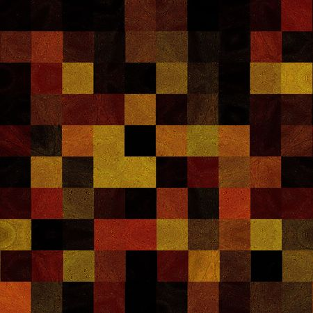 Rich, Earthy Colors Tile Mosaic Seamless   Stock Photo
