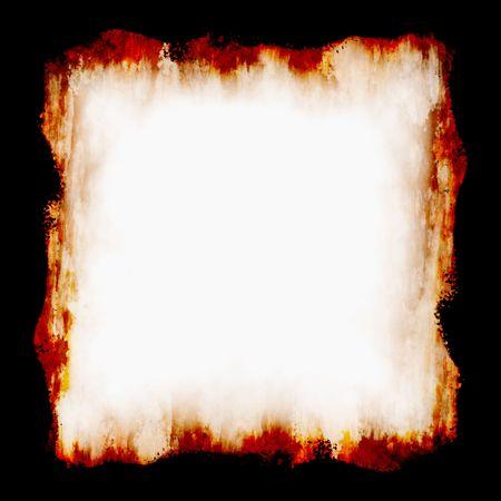 gebrannt: Feuer-Frame  Lizenzfreie Bilder