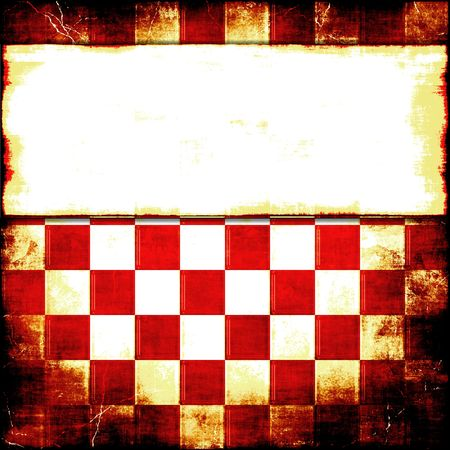 old fashioned menu: Checkered Grunge With Copy Space   Stock Photo