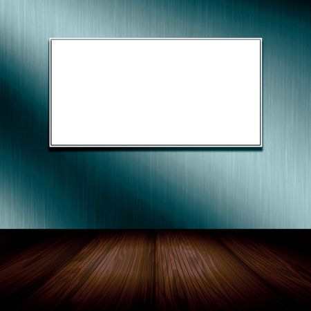 Empty Frame On Wallpaper  photo