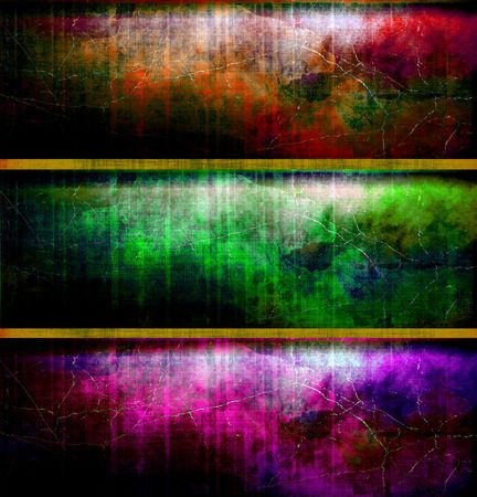 grungy header: Rich, Deep Colors Grunge Banner Set   Stock Photo
