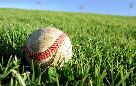 Baseball On Grass photo