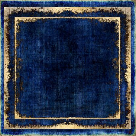 frames and borders: Denim Blue Grunge Texture