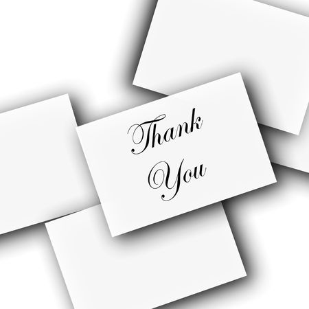 many thanks: Thank You Notes Or Put Your Text Stock Photo