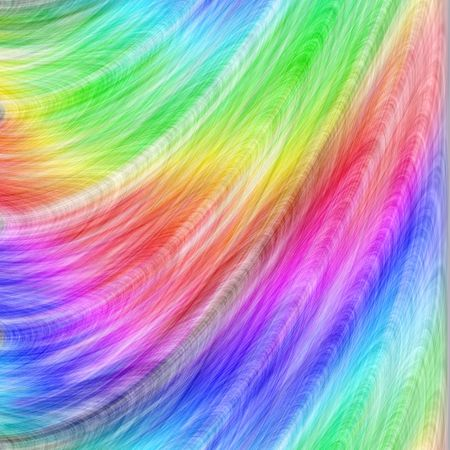 Rainbow Feather Abstract