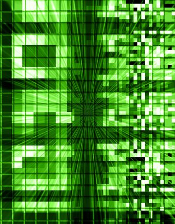 bytes: Abstract Technology Connections Stock Photo