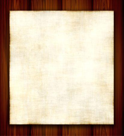 Aged papier op hout