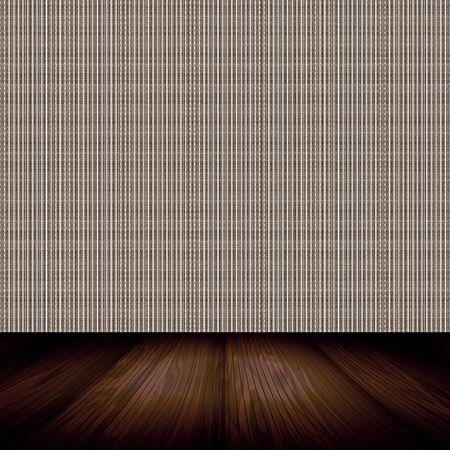 Lege bruine kamer met achtergronden