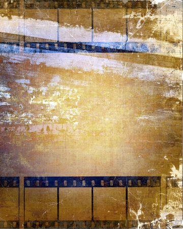 Old Film Strips Grunge Background photo