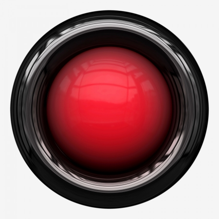 chrome:  Red Isolated Power Button   Stock Photo