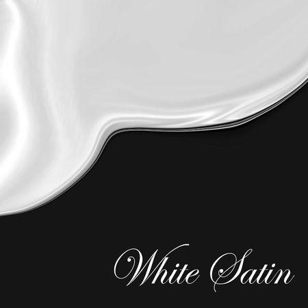 Glad, elegant, White Satin Curves On Black