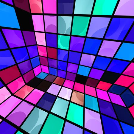 mosaic floor: Disco Party Room