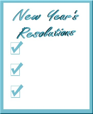 yearly: New Years Resolutions List Stock Photo