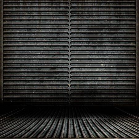 abandoned warehouse: Metal Grunge Room