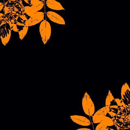 fall of the leaves: Autumn Grunge Leaves Border