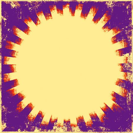 Sunburst Retro Grunge photo