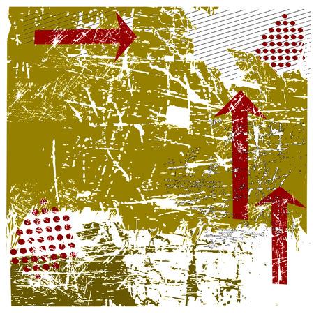 Vector Urban Grunge With Red Arrows Illustration Illusztráció