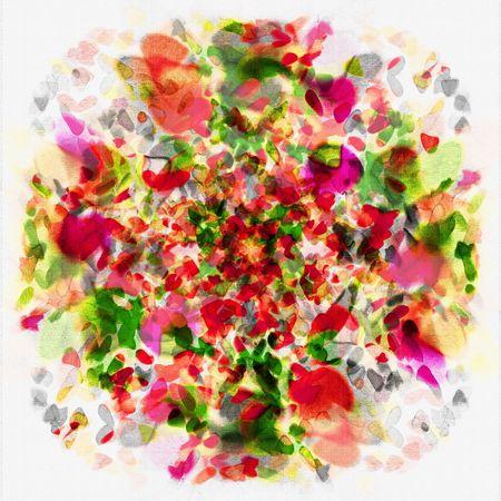 花の花束のアート抽象