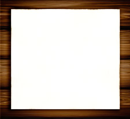 White Blank Paper On Wood photo