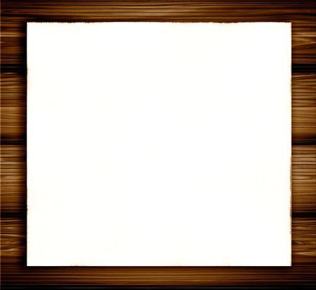 White Blank Paper On Wood Archivio Fotografico