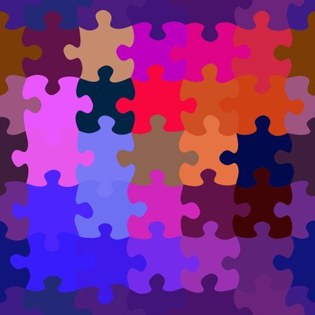 assembled: Colorful Seamless Puzzle   Stock Photo