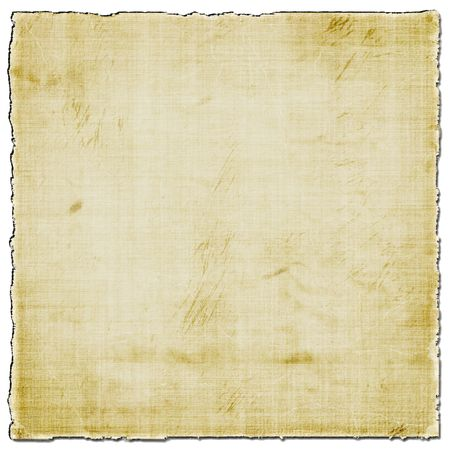 edge: Old Paper Isolated On White