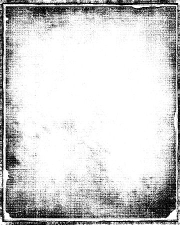 Grunge Border Frame In Black With White Copy Space Archivio Fotografico