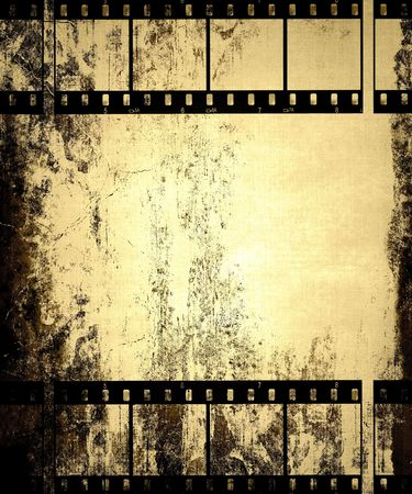 decayed: Old Film Strips Grunge Background
