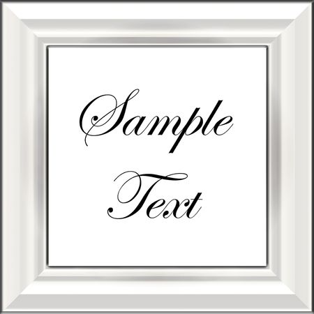 simple frame: White Frame Or Sign Ready For Your Text Or Image