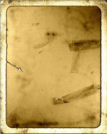 古いビンテージ テープ紙ダン ボール