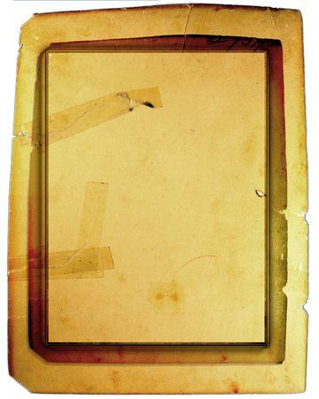 Old Vintage Taped Paper Cardboard  photo