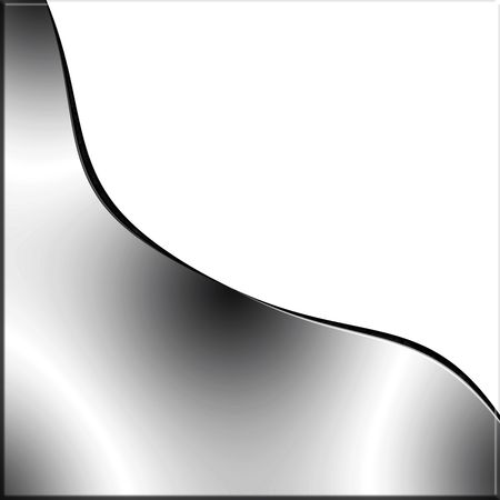 chrome: Metal Wave On White Copy Space Stock Photo