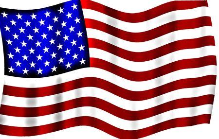 Waving Silky American Flag-Design  Standard-Bild - 5693949