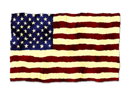 distressed: American Flag Old Grunge Style