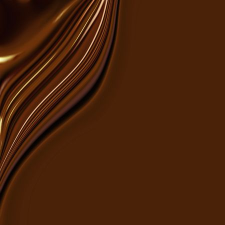Waves Of Silky Sweet Chocolate With Smooth Copy Space