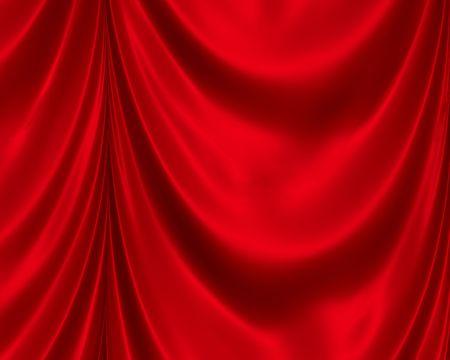 Red Satin Drapes