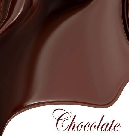 smooth curve design: Suave textura chocolate aislado en el espacio blanco de copia con el chocolate de Word, O f�cilmente agregar su propio texto instead. Foto de archivo