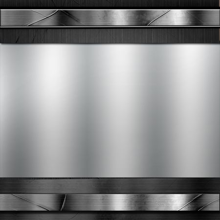 aluminum: Metal Plate Design  Stock Photo