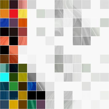 Mosaico transparente de azulejos de fondo  Foto de archivo - 6044860