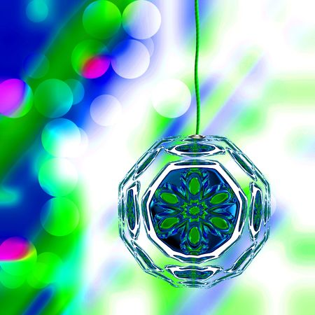 chanukkah: Christmas Ornament On Holiday Lights Background