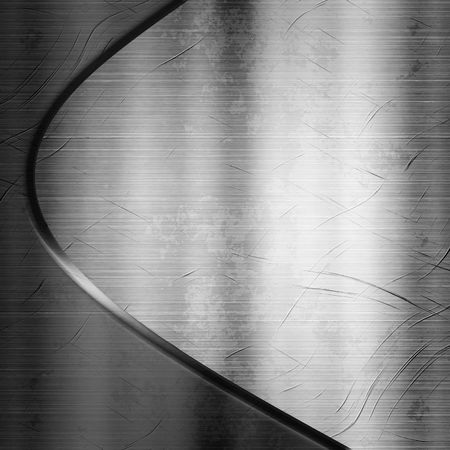 brushed aluminium: Metal Plate Curve Background Design