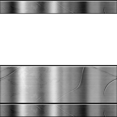 chrome: Metal Texture With White Copy Space Stock Photo