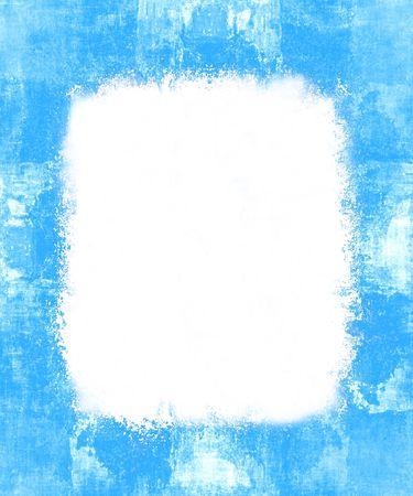 Pintado frontera de la plantilla de grunge de marco, con Copy White Space