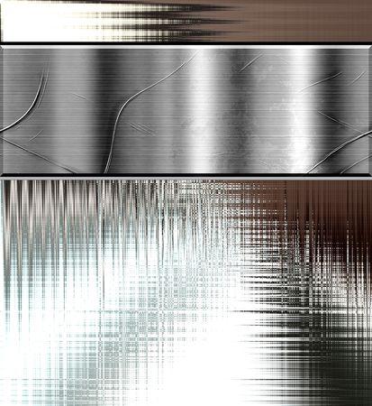 금속 플레이트 커브 배경 템플릿 디자인