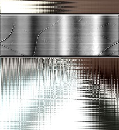 chrome: Metal Plate Curve Background Template Design
