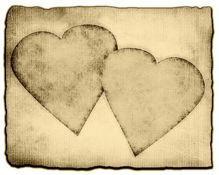 Hearts On Vintage Grunge