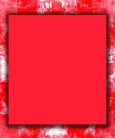 Pintado de rojo grunge de marco de frontera   Foto de archivo - 6260192